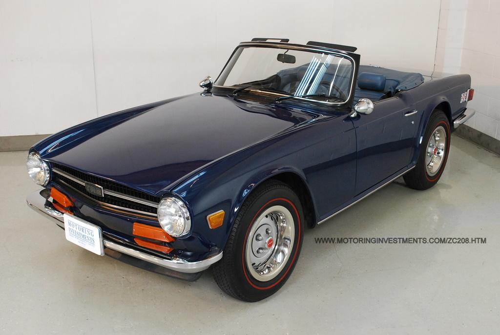 Old Car For Sale >> 1973 Triumph TR6 Frame off restoration